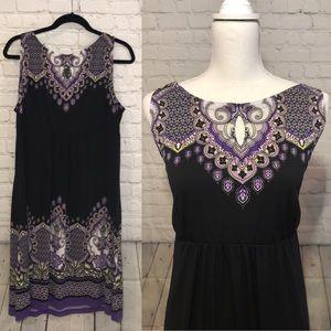 Apt 9 black and purple dress